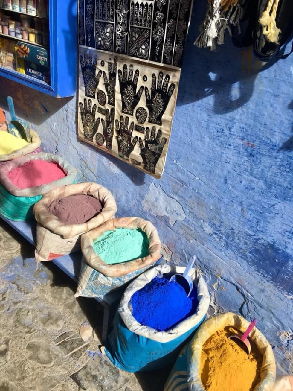 Блакитне місто Шефшауен в Марокко.