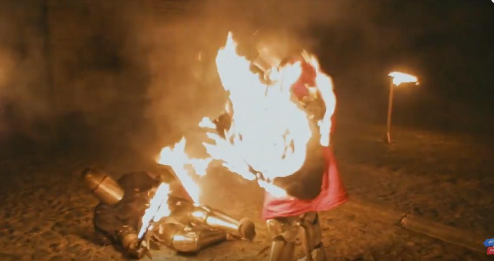 Вогняний бій лицарів із клубу «Айна Бера»
