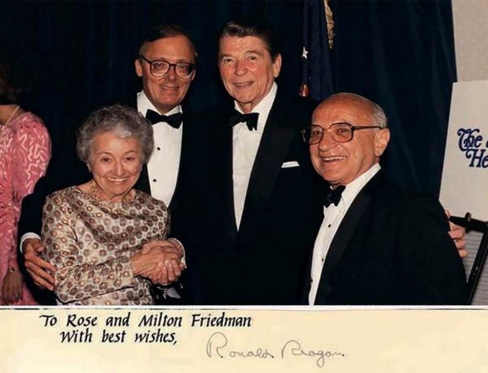 Подружжя Фрідманів разом із президентом США Рональдом Рейганом в Білому домі