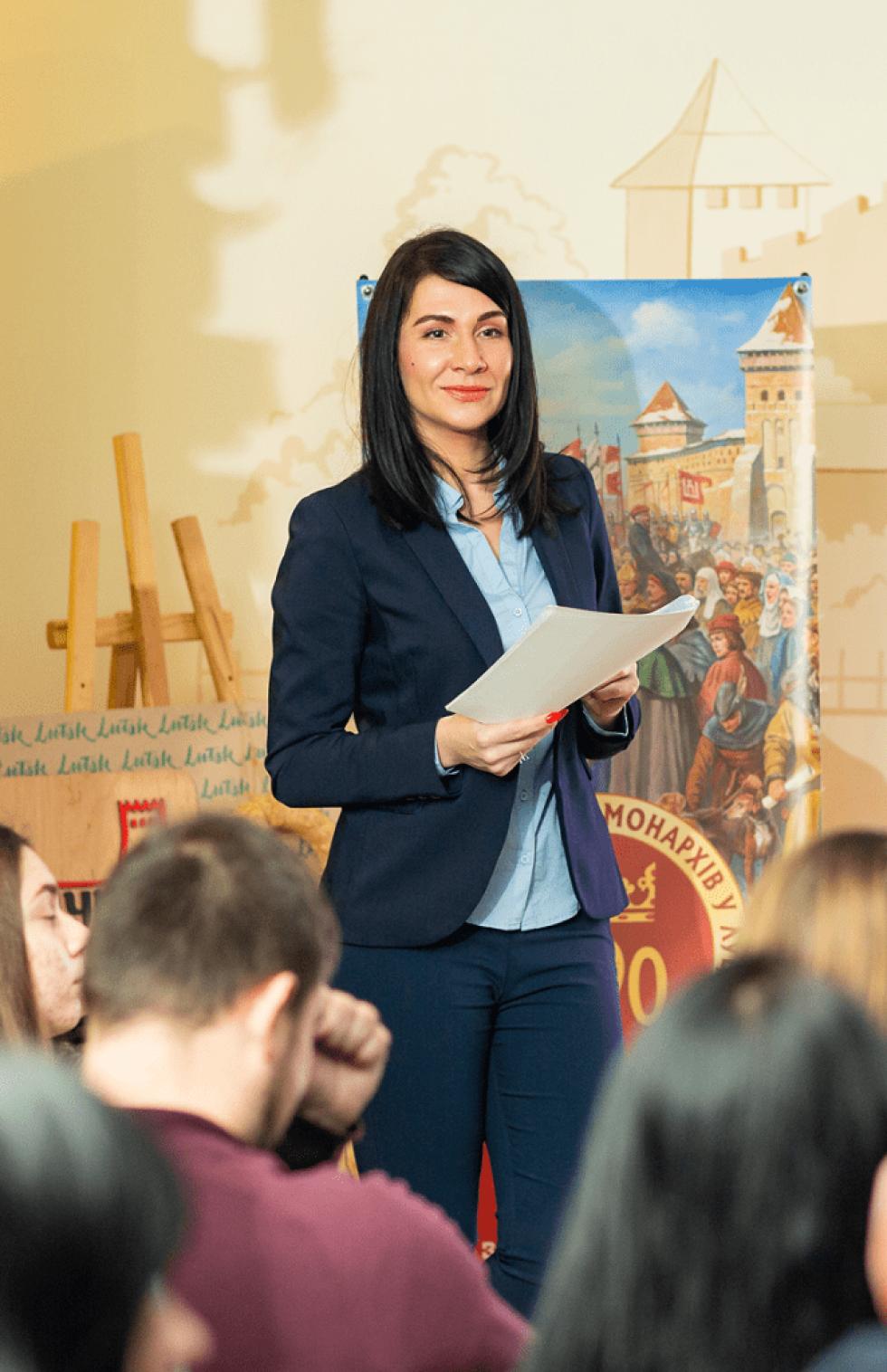 Лекторка Тетяна Яцечко-Блаженко