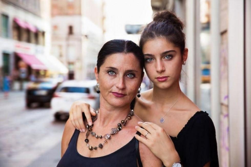 Катеріна і її мама Барбара, Мілан, Італія