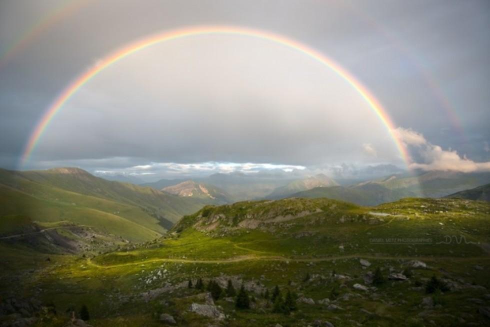 Веселка в Альпах. Фото: Даніель Мец