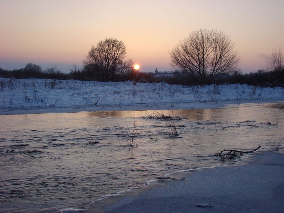 Зимові розливи 2011 року. Заплава Стира.