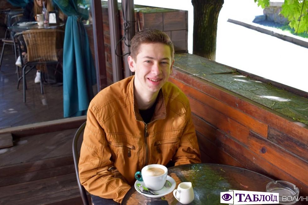 Студент біологічного факультету Олександр Лях