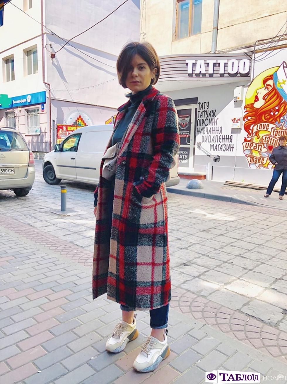 Вулична мода Луцька: переможниця Мар'яна