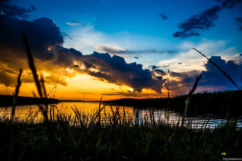 Захід сонця на Світязі