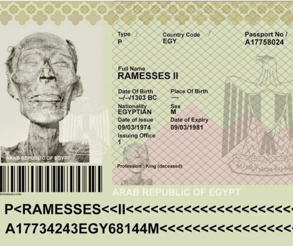 Єгипетський паспорт легендарного фараона Рамзеса II