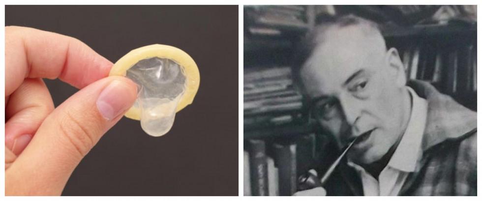 Зліва - презерватив, справа - Ів Гандон. Не переплутайте!