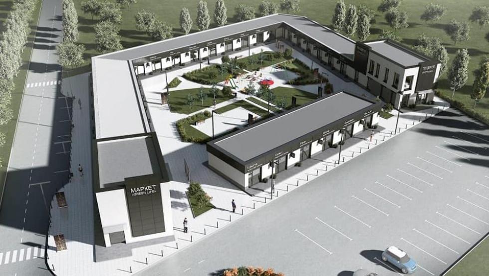 Торговий комплекс у селі Княгининок