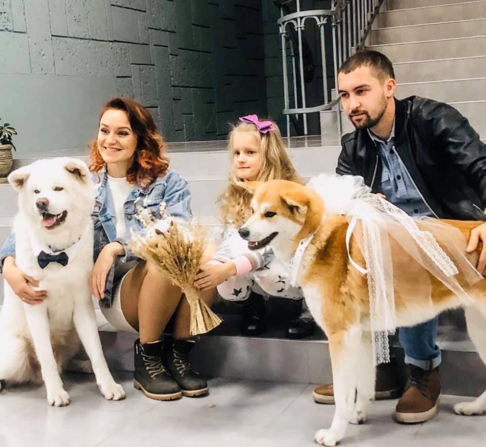 Чотирилапі свідки: волиняни привели на своє весілля домашніх улюбленців