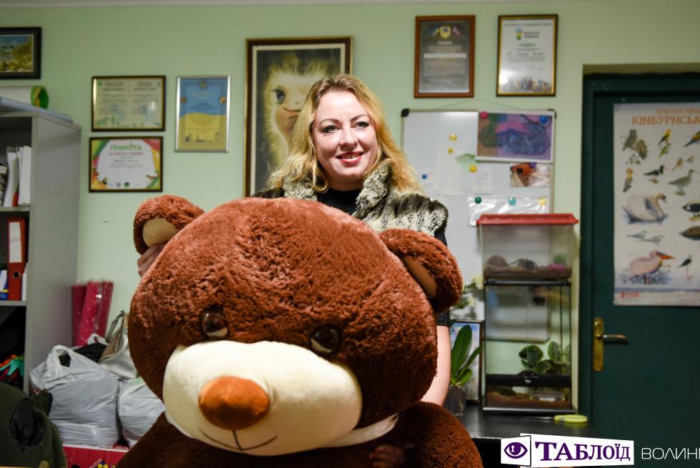 Ведмідь із зоопаркової фотозони