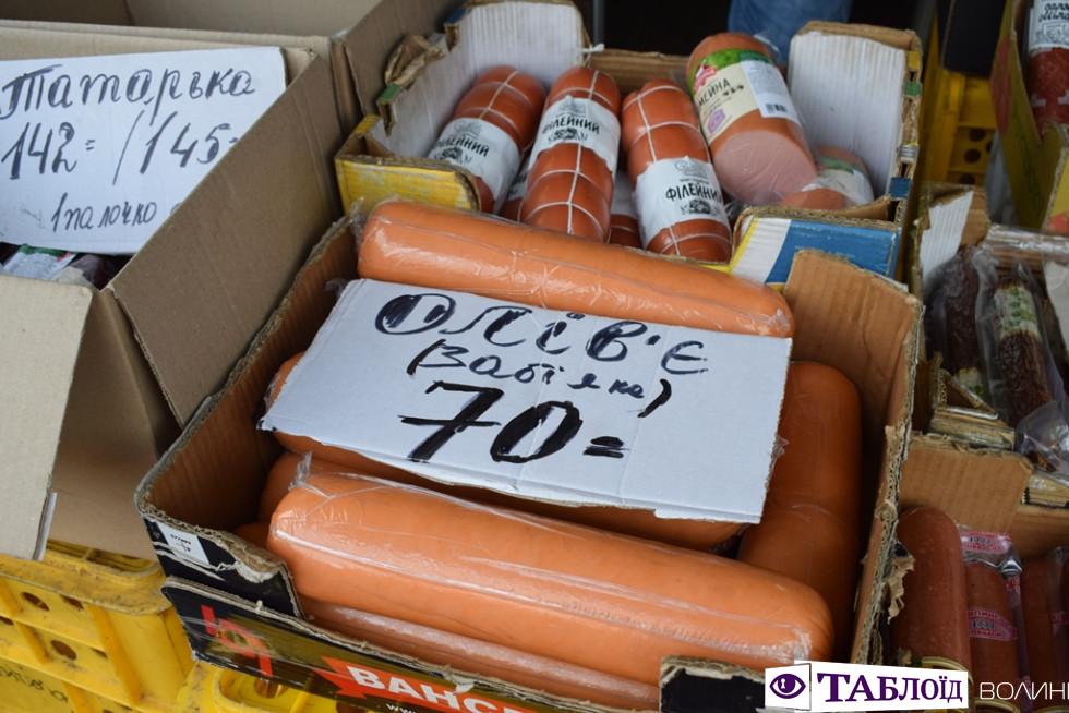 Середня ціна на ковбасу