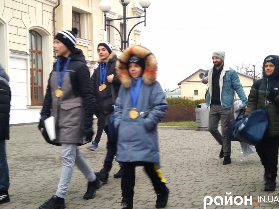 Як у Луцьку зустрічали юних чемпіонів світу