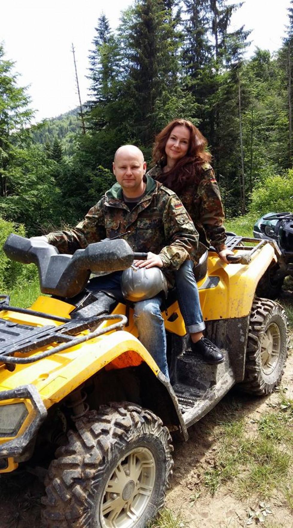 Інна Семенюк з чоловіком