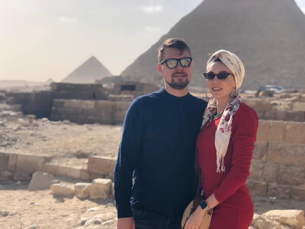 Галина Падалко та Дмитро Чумаченко в Єгипті