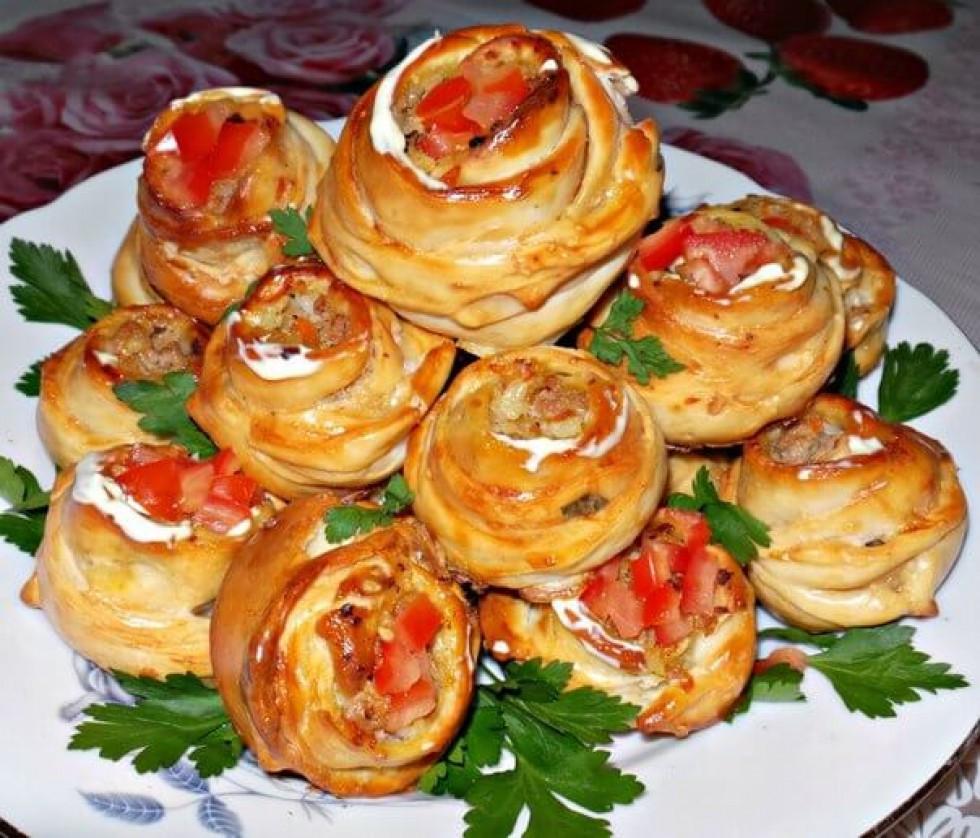 Пиріжки-піци «Троянди»