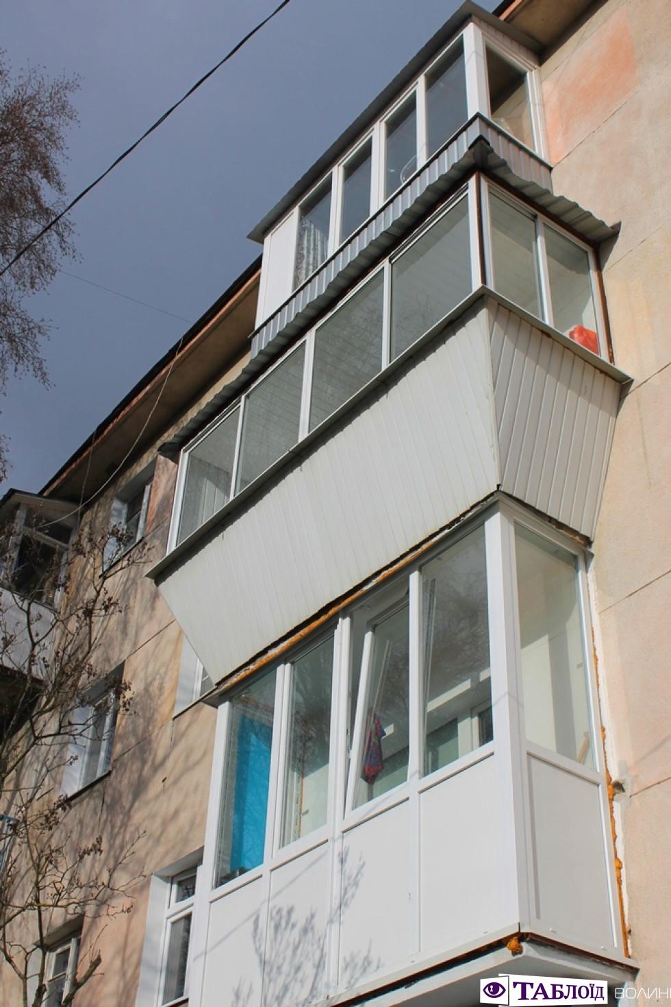 Балкони Луцька: проспект Грушевського