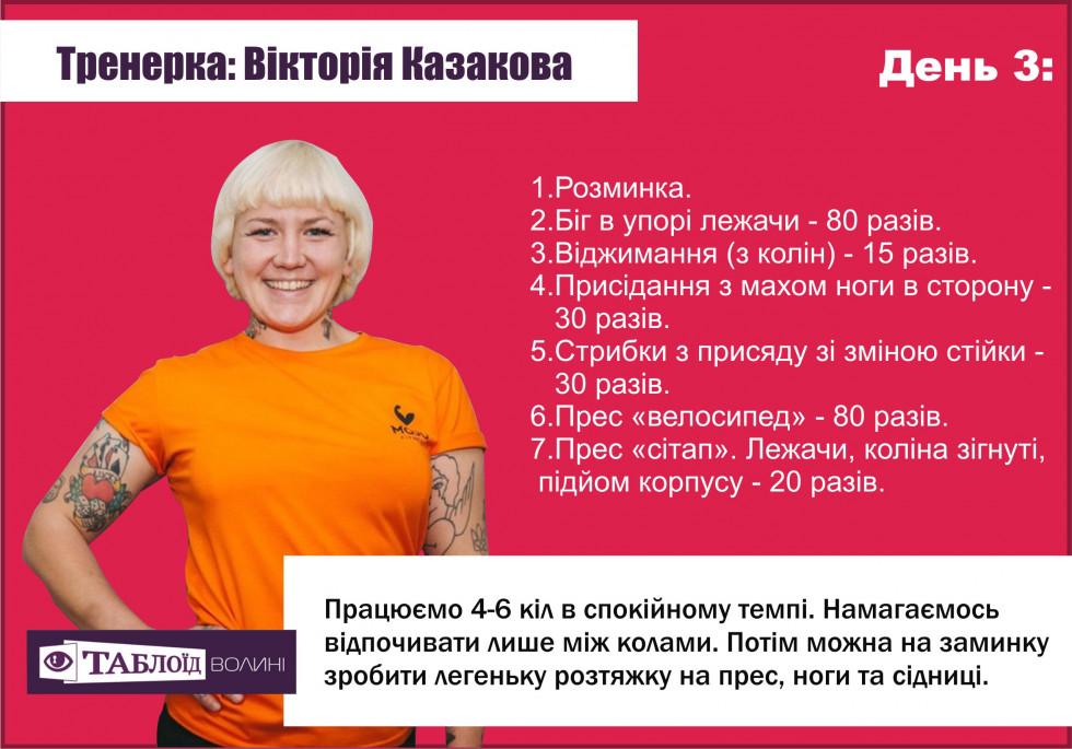 Прокачка. День 3: Тренування від Вікторії Казакової