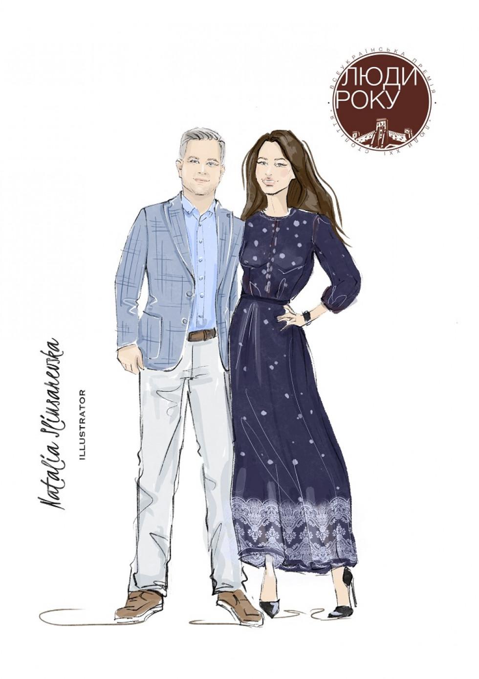 Олександр Князєв з дружиною