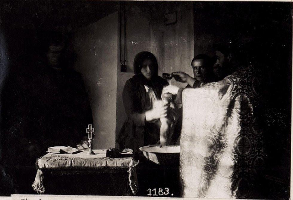 Хрещення дитини на Волині, 1916 р.