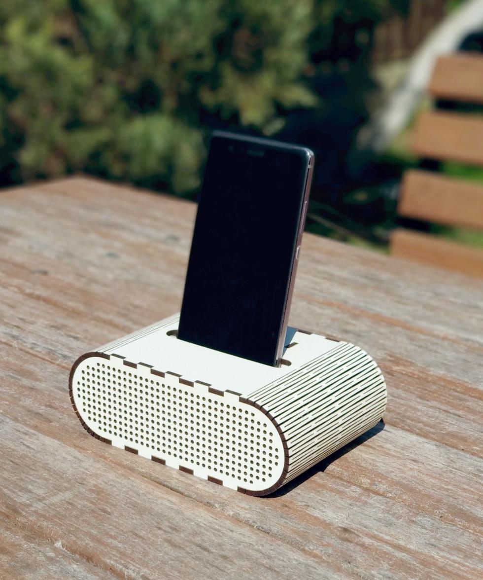 Колонка-холдер (підсилює звук без електирики)