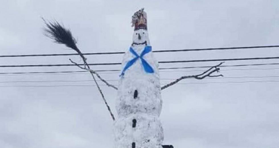 На згадку: сніговики, яких зліпили на Волині цієї зими